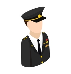 Army character isometric 3d icon vector