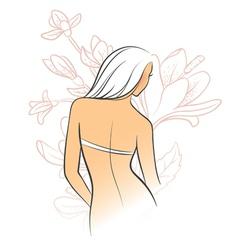 back flower vector image vector image