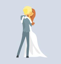 beatuful bridal couple kissing romantic couple vector image