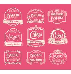 Set of label design elements vector image vector image