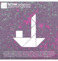 Tangram ship vector image