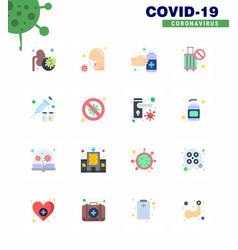 16 flat color corona virus pandemic stop cancel vector