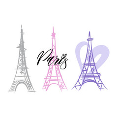 a paris eiffel tower vector image