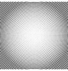 Abstract black and white dotted halftone vector