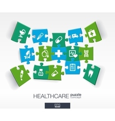 Abstract medicine background with connected color vector image