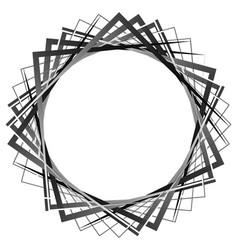 Abstract rotating intersecting squares edgy sharp vector
