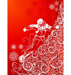 Abstract snowboarder vector