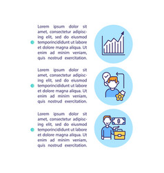 Advantages concept icon with text vector