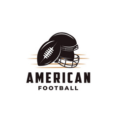 american football sport logo with gridiron ball vector image