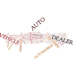 Auto dealer in you city and town text background vector