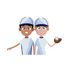 baseball player icon image vector image