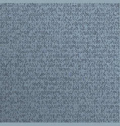blue alien incomprehensible computer code vector image
