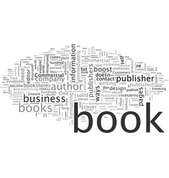Boost your business publish a book vector