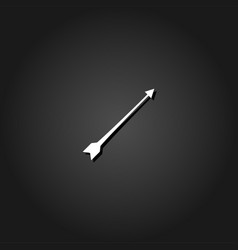 bow arrow icon flat vector image