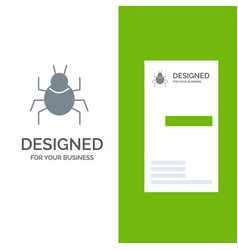 Bug nature virus indian grey logo design and vector