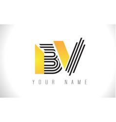 bv black lines letter logo creative line letters vector image