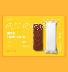candy bar on bright modern site template vector image