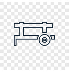 cart concept linear icon isolated on transparent vector image