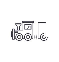 childrens locomotive line icon concept childrens vector image