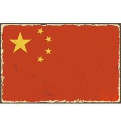 Chinese grunge flag vector image