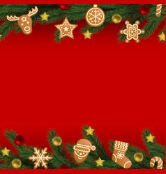 Christmas and new year seamless horizon border vector