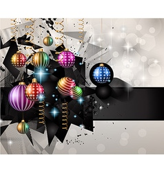 Christmas Modern Background with balls and star vector image
