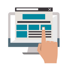 Computer screen internet browsing vector