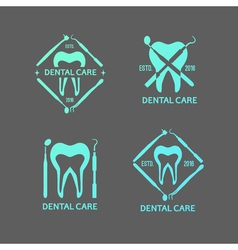 Dental logos set vector