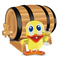 Duck about a barrel vector