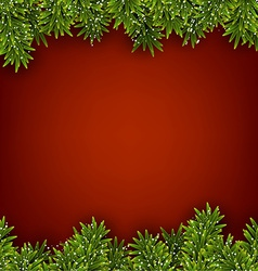 Fir red christmas frame vector image