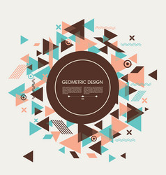 flat geometric pattern can be used for brochures vector image