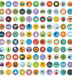 Flat icons design modern big set of various vector image