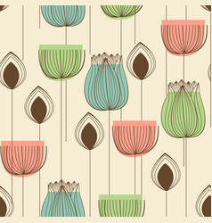 floral design in pastel colors seamless pattern vector image