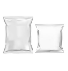 food snack pillow bag pack mockup white pouch vector image