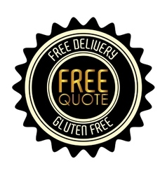free quote design vector image