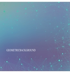 Futuristic technology background molecule and vector image