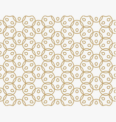 geometric line ornament seamless pattern modern vector image