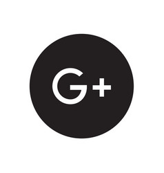 google plus icon vector image