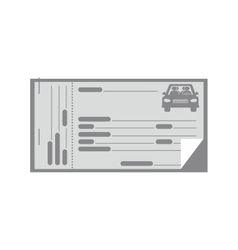 gray coupon for car icon vector image
