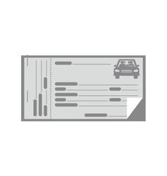 Gray coupon for car icon vector