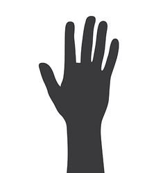 Greeting hand gesture silhouette vector