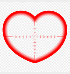 heart with a target the goal of love cupid vector image