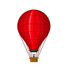 hot air balloon icon flat style vector image