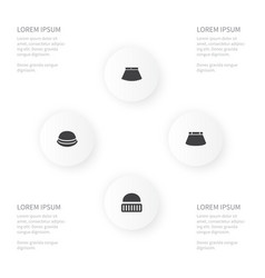icon garment set of apparel ski cap and other vector image