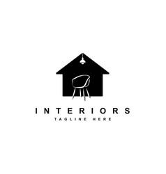 Interior logo design vector