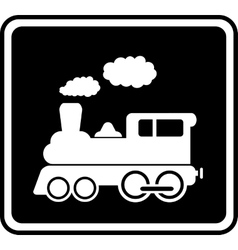 isolated icon with white train vector image
