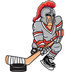 knight sports logo mascot hockey vector image