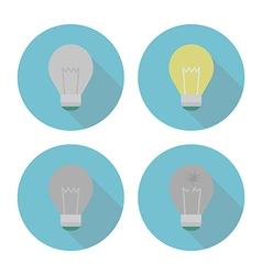 lightbulbset vector image