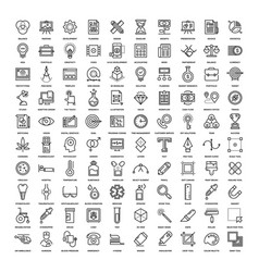 Line web icons vector