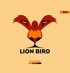 lion bird logo vector image